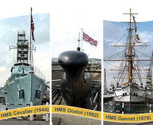 Ships and submarines are just some of the sights at Chatham.