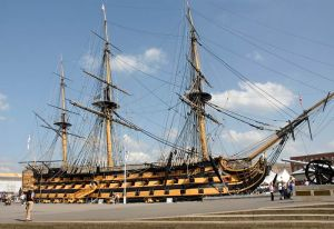 Flag Ship of Lord Nelson at the Batte of Trafalgar