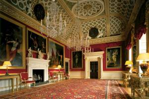 This room is a good example of the rich decor inside the whole of Waddesdon and many other stately homes,