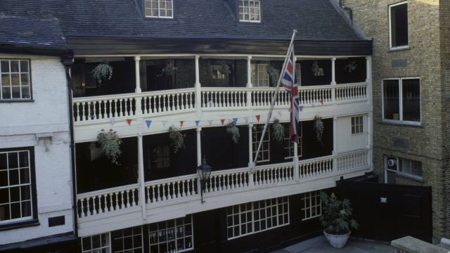 The George Inn - The sole surviving galleried inn in London.