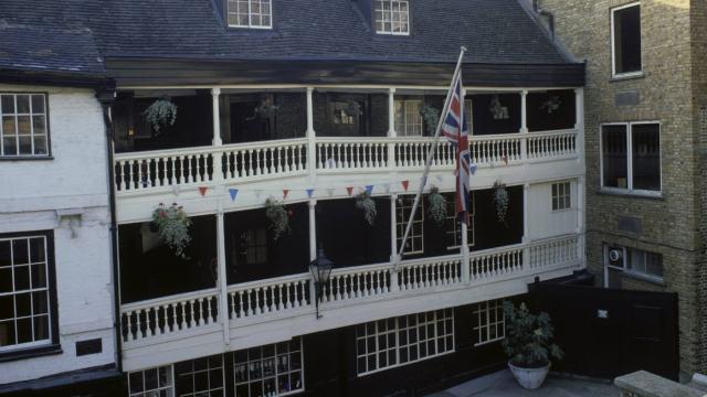 The George Inn - The sole surviving galleried inn in London.