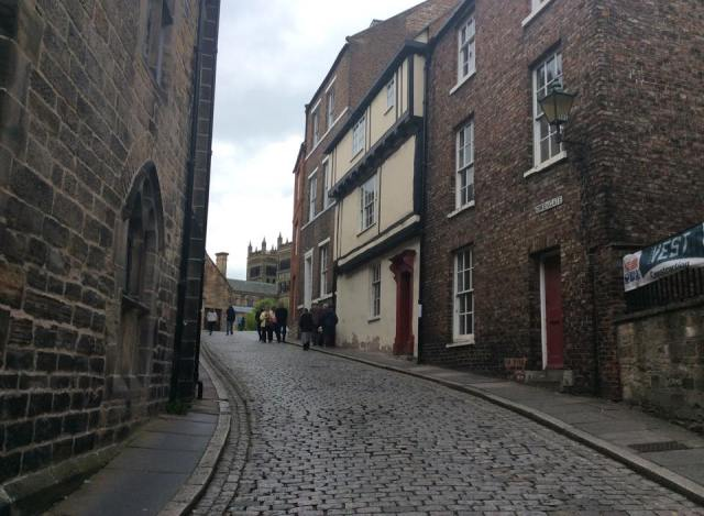 Going up the lane to Durham Cathedral