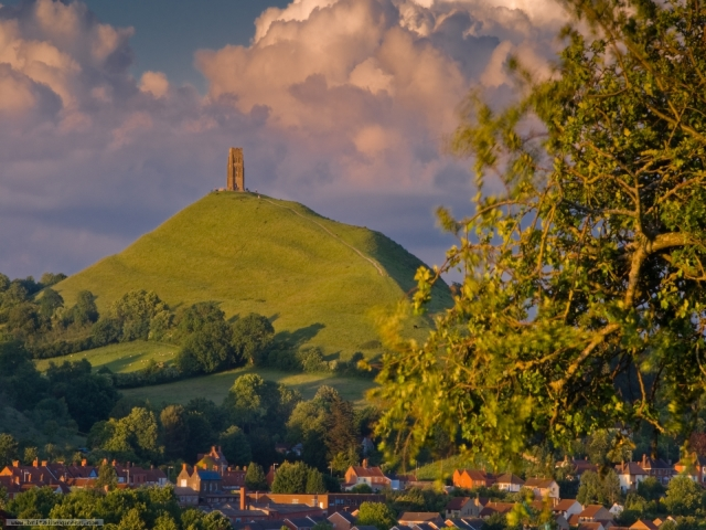 Glastonbury Tor on what was once known as the Isle of Avalon.