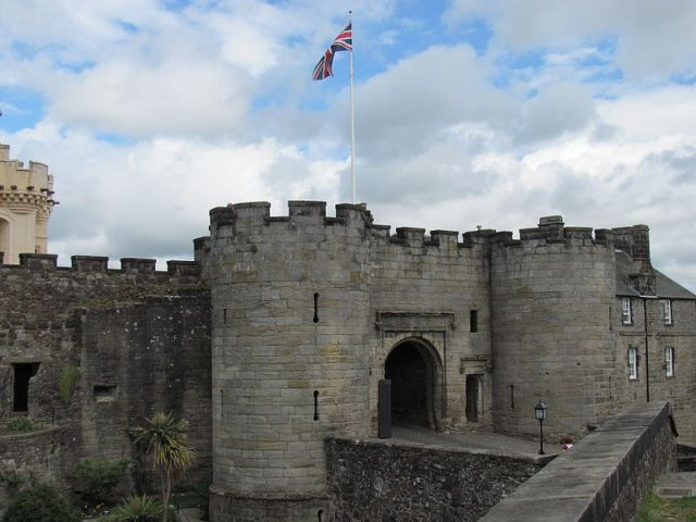 The front gate to Stirling Castle