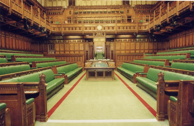 Commons Chamber - The Lower House of Parliament.
